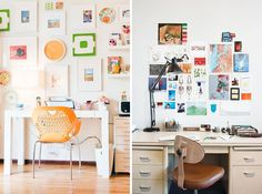 Work It: 15 Inspiring Ideas for a Creative Workspace via Brit + Co.