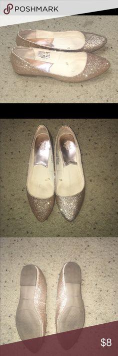 Glittery gold flats Glittery gold flats worn twice Faded Glory Shoes Flats & Loafers