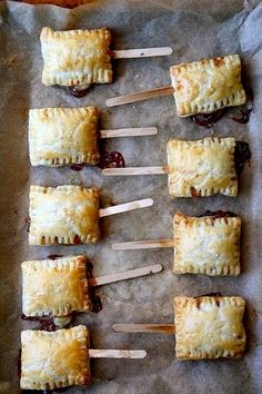 Bite-sized baked brie on a popsicle stick. Does it get any better than this?