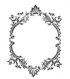 Vintage Frame ~ bumble button