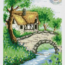 Gallery.ru / Все альбомы пользователя denise10 Cross Stitch Flowers, Cross Stitch Patterns, Cross Stitch Landscape, Pergola, Outdoor Structures, Christmas, Crossstitch, Scenery, Blue Prints