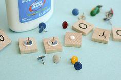 DIY Scrabble Push PIns