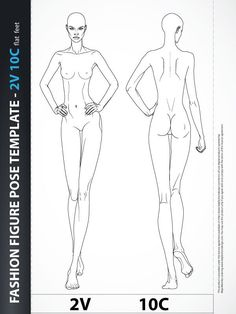 Fashion Design Body Template Catwalk