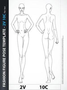 Fashion Design Body Template Catwalk