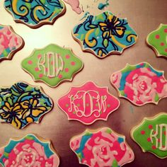 Carolina City Girl: Monogrammed Cookies