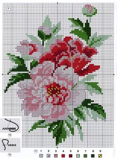 This Pin was discovered by Gyö Cross Stitch Borders, Cross Stitch Rose, Cross Stitch Flowers, Cross Stitch Charts, Cross Stitch Designs, Cross Stitching, Cross Stitch Embroidery, Embroidery Patterns, Cross Stitch Patterns