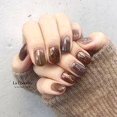 Pin on ネイル Swag Nails, My Nails, How To Do Nails, Pedicure Nails, Nail Nail, Japan Nail, Fingernails Painted, Opi Nail Colors, Mauve Nails