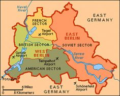 Berlin A Cold War Map Showing The Berlin Wall As A Brickedup - Germany map berlin