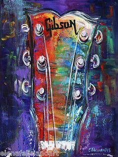 guitar art on canvas - Google Search