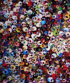 'There Are Little People Inside Me', por Takashi Murakami.  Raro es quien no conoce el arte pop de este artista contemporáneo japonés; con gran proyección a nivel internacional, su obra es colorista y atrevida como pocas, transgresora de esas barreras que parecen separar la cultura visual occidental de la japonesa.