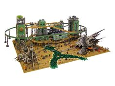 Containment: A Steampunk Sci Fi Alien Lego Landscape Steampunk Lego, Lego Boards, Lego Spaceship, Lego Construction, Cool Lego Creations, Lego Models, Lego Projects, Lego Moc, Lego Building