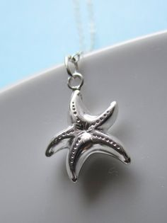 spunky starfish sterling silver charm necklace $21