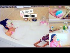 My Pamper Routine - Spa Night - DIY Lush Bath Bomb, Detox Water - MissLizHeart - YouTube