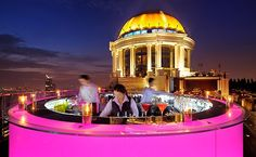 Very Bad Trip Bangkok, c'est sur ce rooftop :) Sky Bar au Lebua at State Tower