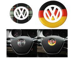 car styling German flag Scottish steering wheel Logo stickers For Volkswagen VW Tiguan Touran Golf 6 7 CC POLO Sagitar Scirocco