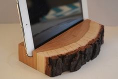 Your place to buy and sell all things handmade Repurposed Wood Projects, Wood Projects That Sell, Small Wood Projects, Projects To Try, Wood Phone Holder, Tablet Holder, Tablet Stand, Support Ipad, Wood Ipad Stand