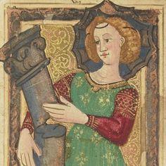 La Force, carte à jouer du Tarot dit de Charles VI, fin XVe siècle