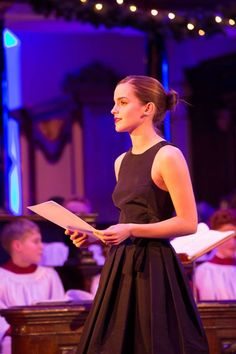 emma reading at the story of christmas concert at st george's hanover square in mayfair, london - dec 17,2013