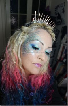 Mermaid Makeup Tutorial (this could come in hand for Halloween sometime)
