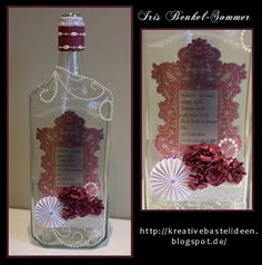 money present bottle with printed label