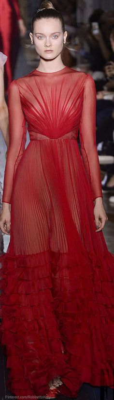 Valentino Haute Couture | F/W 2012-13  With a more modest fabric that isn't see through the silhouette is perfect!