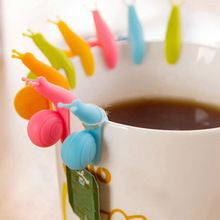 2015 новый Randome цвет 5 шт. милая форма улитки силиконовые чайный пакетик обладатель кубка кружка конфеты цвета подарочный комплект хорошее(China (Mainland))