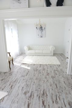 Inhaus Urban Loft Whitewashed Oak Laminate Flooring   Photo Compliments  Karen R.