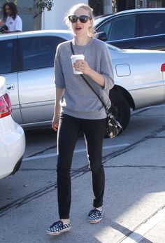 Amanda Seyfried Getting Coffee in West Hollywood 12/27/15