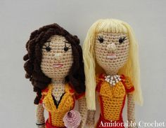 Free Crochet Pattern for Two Broke Girls Characters.. **Check all other patterns too Supplies 2.5mm Crochet Hook