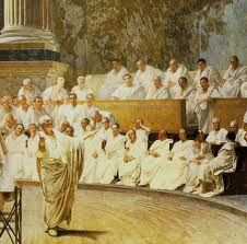 The Roman Senate consisted of 300 members who weren't elected by the people but were chosen by the council to other members of the Senate.  Once you were chosen, you had to work for life.  The richer people generally made the laws and controlled the government.