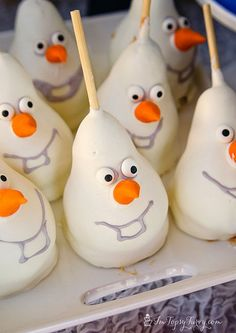olaf-caramel-chocolate-pears by imtopsyturvy.com, via Flickr