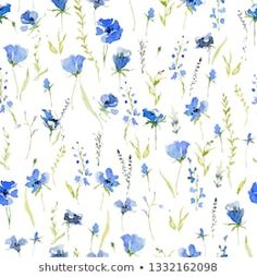 Watercolor Background, Floral Watercolor, Flax Plant, Watercolor Illustration, Royalty Free Images, Blue Flowers, Stock Photos, Rustic, Wallpaper