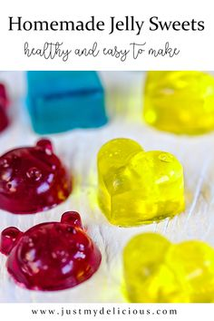 Yummy and healthy jelly sweets for kids. Perfect for dessert od as a snack. Party idea for kids. Cute Food, Good Food, Homemade Jelly, Jelly Babies, Something Sweet, Baby Food Recipes, Food Art, Food Photography, Food And Drink
