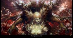 I wish they would have used this cover art every time you went in to kill the Hybrid. Guild Wars 2, Cover Art, Scenery, Lion Sculpture, Statue, Landscape, Paisajes, Sculptures, Nature