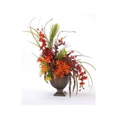 25 Fall Flower Arrangements Enhancing the Spirit of Thanksgiving Table... ❤ liked on Polyvore featuring home, home decor, fall home decor, autumn home decor and thanksgiving home decor
