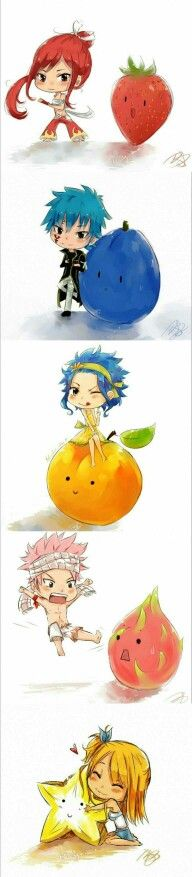The fruits represent them perfectly, especially Natsu