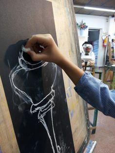 Treball realitzat per nens i nenes a partir de 7 anys en el Taller de Dibuix i Pintura 2015/16. www.escolatrac.com