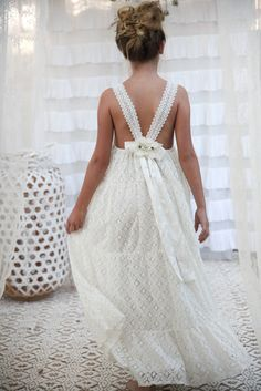 Amelie Lace Maxi- new delivery just arrived Flower Girl Dresses Boho, Girls Lace Dress, Little Girl Dresses, Dresses For Teens, Girls Dresses, Beach Flower Girls, Junior Bridesmaid Dresses, Wedding Dresses, Special Dresses