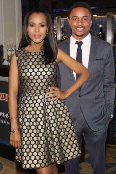 Kerry Washington and husband Nnamdi Asomugha so sexy together