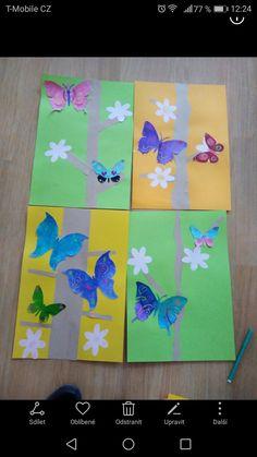 Výtvarná výchova vytvarka jaro motyli buterfly spring kids art Nursery Activities, Techno, Art Projects, Scrapbooking, Jar, School, Spring, Christmas, Xmas