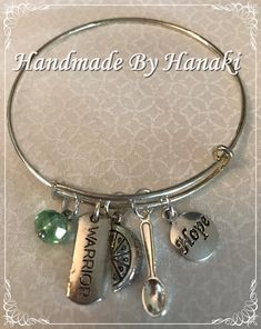 Items similar to LymeCares Bangle on Etsy Lyme Disease, Watercolor And Ink, Jewelry Making, Bangles, Healing, Handmade, Life, Etsy, Bracelets
