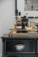 chest with bar tray on top - Bing images Home Interior, Interior Styling, Interior And Exterior, Interior Decorating, Home Design, Bar Cart Decor, Home Hardware, Gold Bar Cart, Drawer Pulls
