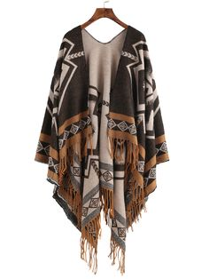 Shop Coffee Contrast Edge Vintage Print Fringe Shawl Scarf online. SheIn offers Coffee Contrast Edge Vintage Print Fringe Shawl Scarf & more to fit your fashionable needs.