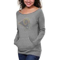 Cuce+Fleece+St.+Louis+Rams+Ladies+Crystal+Side-Liner+Sweatshirt+-+Gray