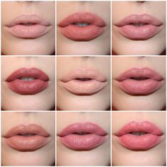 Top to bottom, left to right we have NYX Butter Gloss in Fortune Cookie, NYX… Mehr Lipstick Guide, Nyx Butter Lipstick, Nyx Butter Gloss, Nude Lipstick, Matte Lips, Lipstick Colors, Lip Colors, Lipstick For Pale Skin, Lip Makeup