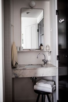 Le Pigalle, Paris Picture: Chambre Pigalle 21 - Check out Tripadvisor members' 214 candid photos and videos. Fitted Bathroom, Narrow Bathroom, Simple Bathroom, Master Bathroom, Bathroom Ideas, Hall Bathroom, Marble Bathrooms, Bathroom Remodel Cost, Shower Remodel