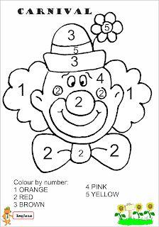 Kindergarten Crafts, Preschool Worksheets, Preschool Activities, Clown Crafts, Le Clown, Color By Numbers, Classroom Walls, Educational Crafts, Owl Patterns