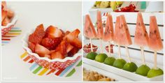 Bols y pinchos para servir fruta / Bowls and sticks for the party fruit