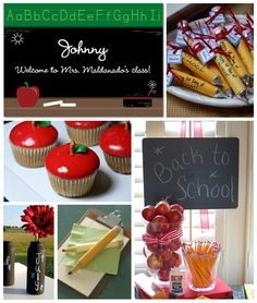 Back to School Classroom Party Inspiration Board