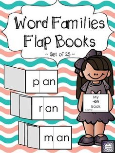 Word Families Flap Books -This is a set of 25 simple flap books to help emerging readers practice word families!    *Easy assembly - just cut & staple!   *Traceable letters option is included for each word family!   Word families are:  -an, -at, -ap, -ay  -en, -in, -ip, -it  -op, -ot, -ug  -ack, -ake, -all, -ail  -est, -ight, -ill, -ing  -ink, -ock, -oke,   -ore, -ump, -unk